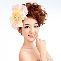 Wholesale The new Korean wedding dress bridal hair accessories lace head ornaments hair accessories Hot Photography