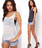 Wholesale New Women Long Sleeveless Bodycon Temperament Cotton Long T shirt Tank Top Women Vest Tops SV14 SV004643