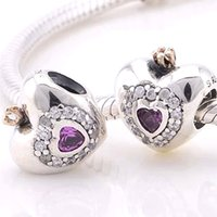 14k findings - Fit Pandora Bracelets Charms Beads Sterling Silver Jewelry Outlet Cheap K Princess Heart European DIY finding For Women