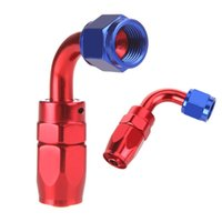 Wholesale Aluminum degree Swivel Oil Fuel Hose End AN6 Fitting Adapter