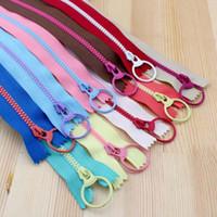 Wholesale 2015 New Bright color cm Resin contrast color zipper fashion pull ring zipper head DIY handwork Bag Close End
