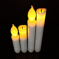 Wholesale 10 Flameless Warm White Birthday Christmas Wedding Tree LED Flameless Candle Light For Wedding Party Holiday Decoration