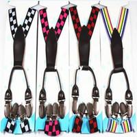 Wholesale Adjustable Child Clip on Pants Y back Suspender Braces Elastic Kid Toddler Belts