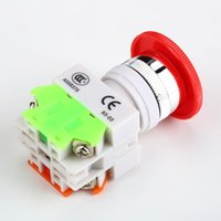Wholesale Mushroom Push Button Screw Terminal NC N C Emergency Stop Switch Push Button Hot Worldwide PromotionHot New Arrival