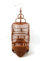 bamboo shou - CM Special offer blessing Lu Shou Jubilee boxwood carvings lucky old bamboo cage