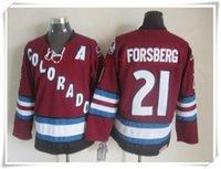 Wholesale Cheap Jerseys ICE Hockey Men Peter Forsberg purple Mix Order Vintage Throwback Best quality All stitching jerseys