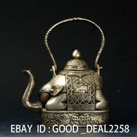 animal shapes mark - Handwork Silver copper Elephant Shape Tea Pot w QianLong Mark