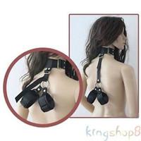bondage neck wrist restraint - 2015 Adult Fantasy Sex Toy Cosplay SM Fetish Restraint Bondage Collar Hand Cuff Bound hand neck Set pieces