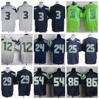 Wholesale 2015 Super Bowl XLIX American Football Jerseys Quarterback Mens Elite Cheap Stitched Jersey Green Blue White Grey Jerseys