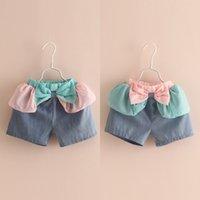 Cheap Wholesale-Girls Shorts Rushed Cotton Summer 2015 Korean Children's Clothing New Bow Girls Baby Leisure Short Shorts Kz-3770 Free