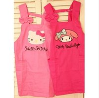 Wholesale melody cute bow KT Melody tica through adult cotton nursing home clothing aprons antifouling fumes