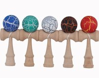 Wholesale Crack Kendama Sword Jade Fully Painted Kendama Ball Japanese Traditional Wooden Toy DHL