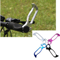 Wholesale High Quality Pair Cycling Bike Bicycle Aluminum Alloy Hollow Cosy Rest Vice Handle Bar Grip Ends Black Sliver Red Blue