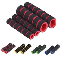 Wholesale 4Pcs Sponge Nonslip Foam Mountain Road MTB Bicycle Handlebar Grip Set Motorcycles Bike Grips Blue Yellow Red Green