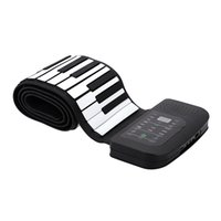 Wholesale US plug Portable Keys Silicone Flexible Roll Up Piano Foldable Keyboard Hand rolling Piano with Battery Sustain Pedal