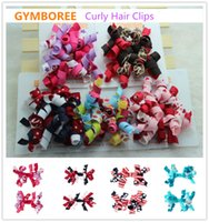 gymboree - The GYMBOREE Girl s Print Curly Hair Clips Children Ribbon Hair Accessories Giant Curlies Clips Hair Rings Two Pack