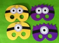 Wholesale 4 styles New Despicable Me mask yellow man masks Cosplay mask Halloween party kids Favorites mask