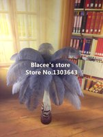 Wholesale NEW prices gray ostrich feather for wedding decor or table decor