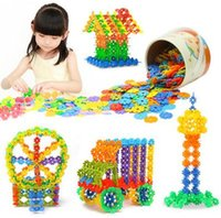 plastic sheet - Child Puzzle Toy Plastic Fight inserted Assembled Building Blocks Snowflake sheet Baby Puzzle Toy