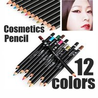 Wholesale set Pro Cosmetic Makeup maquiagens Eyeliner Eye Lip Liner Eyebrow Pencil Pen Set