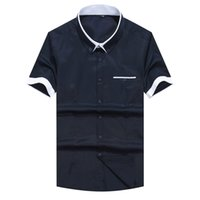 Wholesale New Look men shirt short sleeve Business Men s Shirts Harmonia Collar Shirt Chemise Homme Over Size M XL Factory Sale