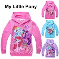 clothes dropship - 2015 Spring My Little Pony Baby Girls Hoodies Outerwear Fashion Jackets Coats Sweatshirts Children Clothing Babies Clothes Factory Dropship