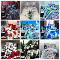 Wholesale Beautiful D Floral Animal Printing Bedding Sets Queen Size Bedclothes Duvet Cover Sheet Comforter Bed Spreads Home Bed Textiles Cheap
