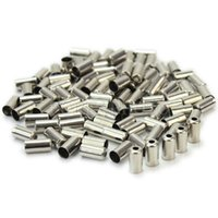Wholesale 100Pcs Bike Bicycle Cycle Metal Brake Cable Wire Tips Caps Crimps x5x5mm