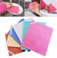 cleaning rags - green natural multi thicker non stick oil clean rag home scouring pad washing towels