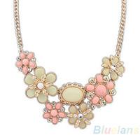 Wholesale Fashion Women Alloy Bohemian Necklaces Bib Choker Necklace Short Pendants HDJ