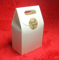 bakery shipping boxes - zakka White Paper Gift Box Craft Box Bag with Handle Candy Bakery Biscuits Packaging Box