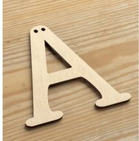 Wholesale 100pcs A Z Wooden BUNTING LETTERS Personalised Fonts Party Wedding Birthday Hanging Signs cm Height