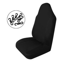 Wholesale Lowest Price New Black PC Single piece Universal Car Front Seat Covers Polyester Fabric With Hooks Best Promotion