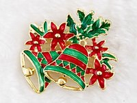 Wholesale 2000pcs Brooch pin Santa Claus and boots brooches cane wreath snowman Christmas tree brooches jewelry gift