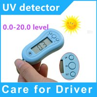 Wholesale 10 UV detector UV meter with keychain time display dropshipping
