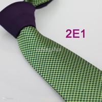 ascot knot - Coachella Men s ties New design Purple Knot Green Spots Dots Jacquard Necktie custom ties Cravat Formal Neck Tie for Men