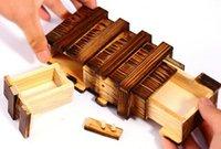 Wholesale 100pcs secret lock dual magic IQ wooden gift box Brain Teaser Puzzle Christmas gifts box gifts idea DHL Fedex