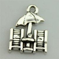 Cheap 200pcs lot 20*15mm vintage antique silver tone zinc alloy Beach chairs charms , diy vintage jewelry wholesale
