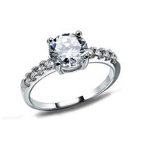 bezel material - 100 Austria Crystal Jewelry S925 Sterling Silver Material with Platinum Plated Fashion Jewelry New Style Ring OR12