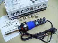 Wholesale Hot Sale Heat Gun V V W Degree LCD Adjustable Electronic Heat Hot Air Gun Desoldering IC SMD BGA Nozzle LCD