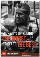 best poster prints - quot The Worst The Best quot Bodybuilding Motivational Art Silk Poster x36 inch