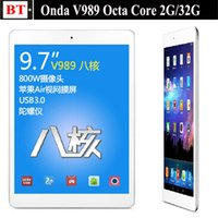 "Cheap Wholesale-Onda V989 Tablet pc A80T 9.7"" Retina 2048*1536 Screen Android 4.4 Octa Core 2GB 32GB Bluetooth 8MP Camera"