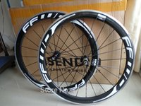 Wholesale Newest FFWD C mm clincher rim Road bike carbon bicycle wheelsets with alloy brake surface white logo