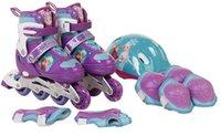 Wholesale 2016 new frozen children Full Set roller skate cartoon flicker regulation skating shoes DHL