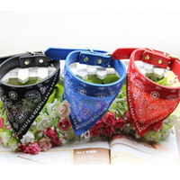 Wholesale 100pcs New Style Adjustable Pet Dog Cat Bandana Scarf Collar Neckerchief Brand New Mix Colors CM dog collars