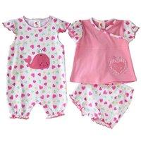 baby girl creeper - High quality M Summer girl newborn baby bebe infants piece clothing set Creeper conjuntos set jumpsuit baby wear