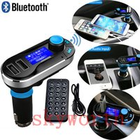 Wholesale Wireless T66 MP3 Player Car Kit FM Transmitter With Car Audio Remote Control LCD Display with AUX play