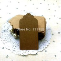 Wholesale 9 cm Kraft Paper Square Tag Baking Listing Blank Tag Marks Marked Cards Product Card Hand painted Cards Paper Crafts xx