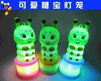 Wholesale Sugar treasure rainbow circle mini portable lantern Mid Autumn Lantern Colorful LED Hot Toys Children Gift