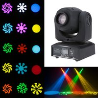 Wholesale LIXADA DMX Mini Moving Head Light RGBW LED Stage PAR Light with Shapes Automatic Professional Channel US STOCK L0686